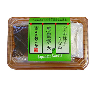 Japanese Sweets 宇治抹茶きな粉 黒蜜寒天 125g